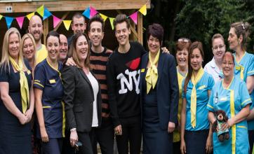 Harry Styles visits a care home with Radio1