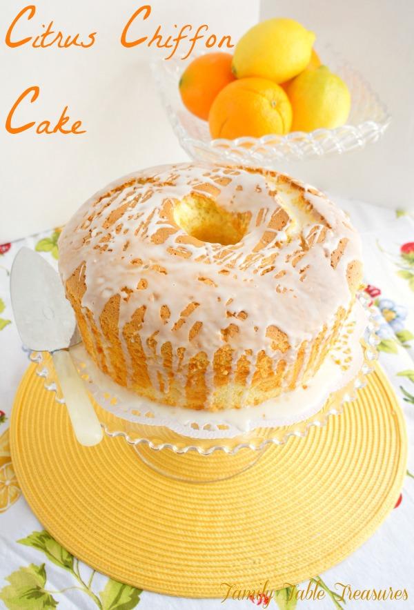 Citrus Chiffon Cake