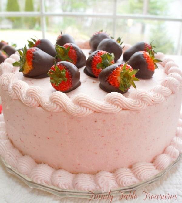 Chocolate Covered Strawberry {Cake}