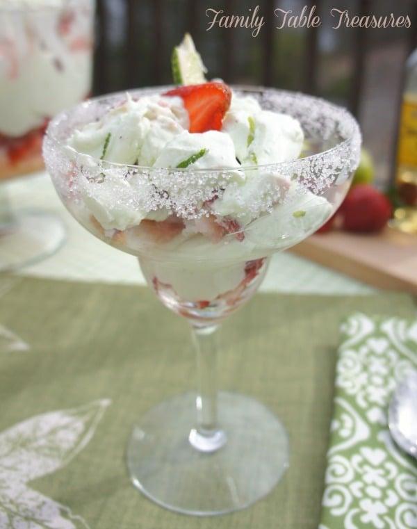Strawberry Margarita Cheesecake {Trifle}