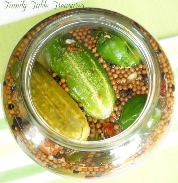 {Grandpa's} Half Sour Pickles
