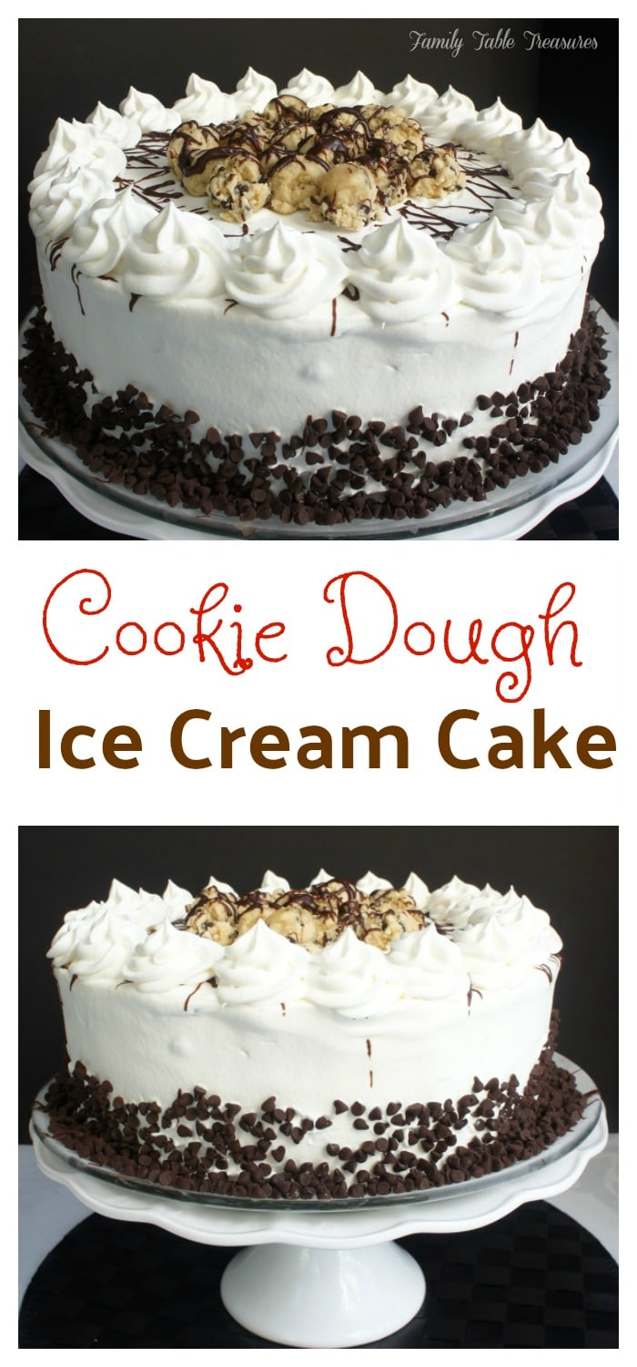 {Cookie Dough} Ice Cream Cake