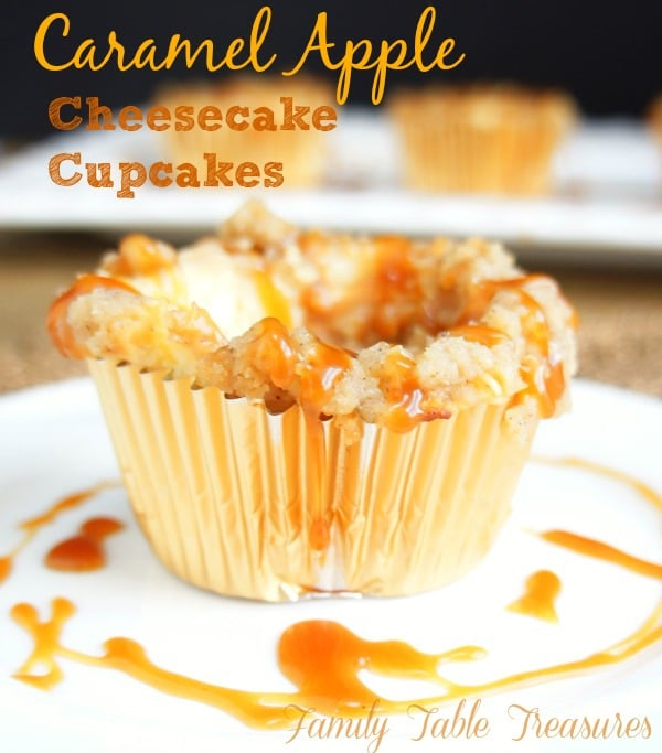 Caramel Apple Cheesecake {Cupcakes}
