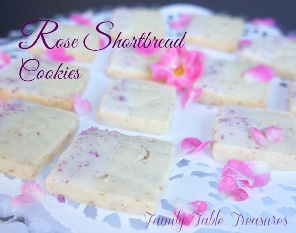 {Rose} Shortbread Cookies