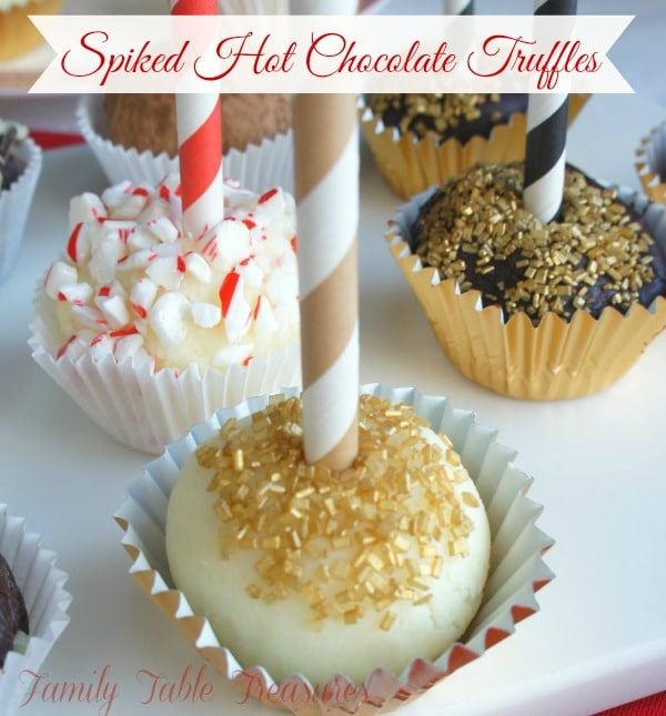 Spiked Hot Chocolate {Truffles}
