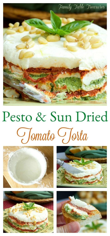 Pesto & Sun Dried Tomato Torta