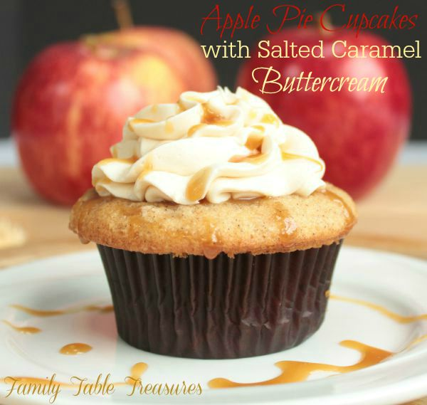 Apple Pie Cupcakes with Salted Caramel Buttercream