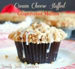 Cream Cheese Stuffed Gingerbread Muffins