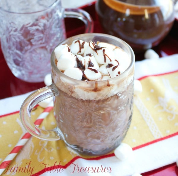 Creamy Hot Chocolate {made with Ganache}
