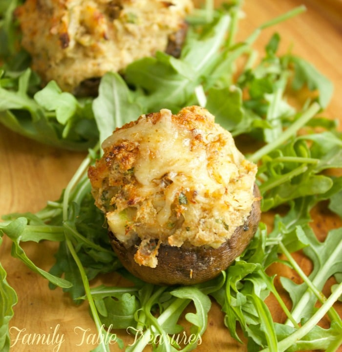 Boursin Cheese & Crab Stuffed Mushrooms