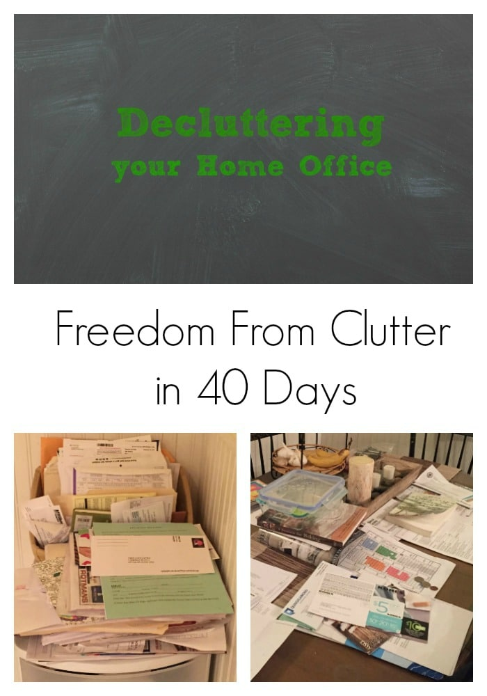 Decluttering Your Home Office {Freedom From Clutter in 40 Days}