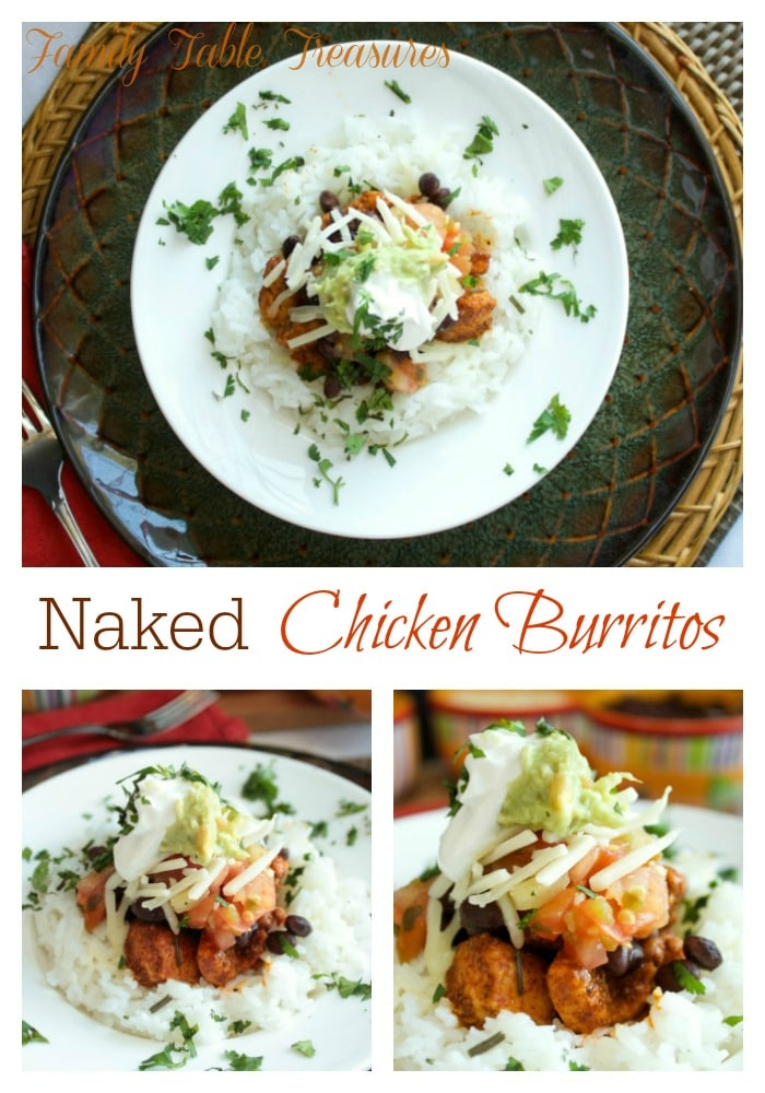 Naked Chicken Burritos