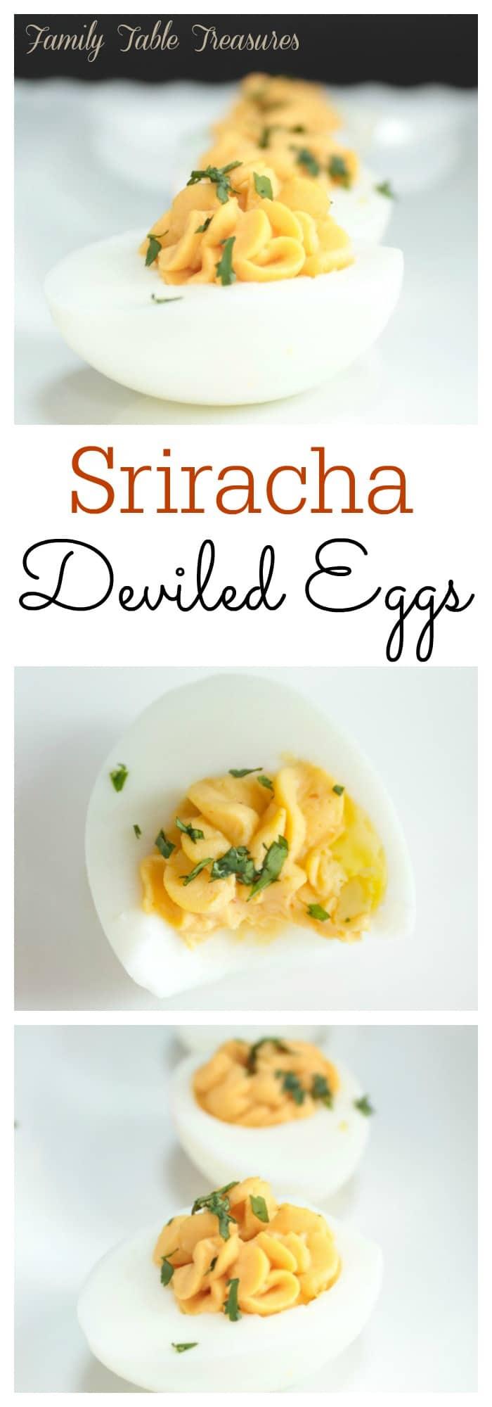 Sriracha Deviled Eggs