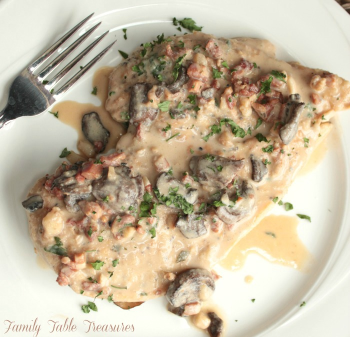 Creamy Chicken Marsala {with Pancetta}