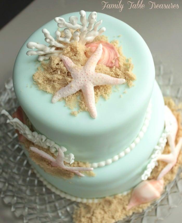 Beach Themed Cake Family Table Treasures