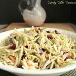 Cranberry Ginger Broccoli Slaw