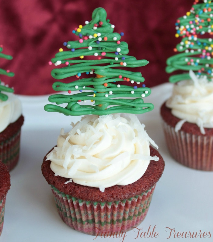 Christmas Cupcakes.Easy Christmas Cupcake Decorations