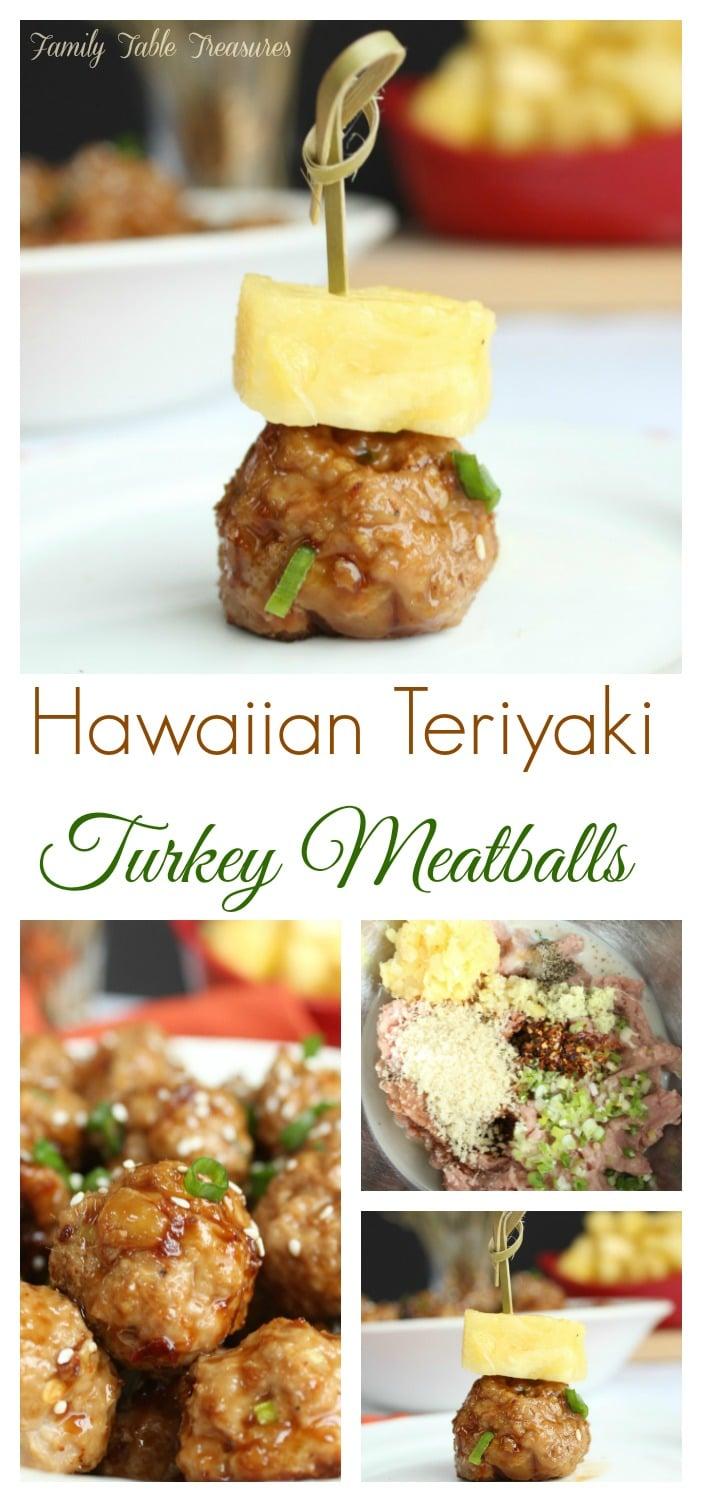 Hawaiian Teriyaki Meatballs