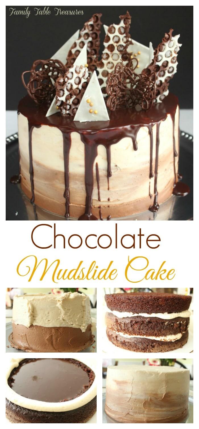 Spiked Chocolate Mudslide Cake