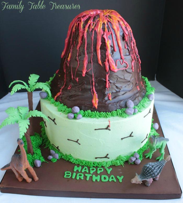Volcano Cake Family Table Treasures