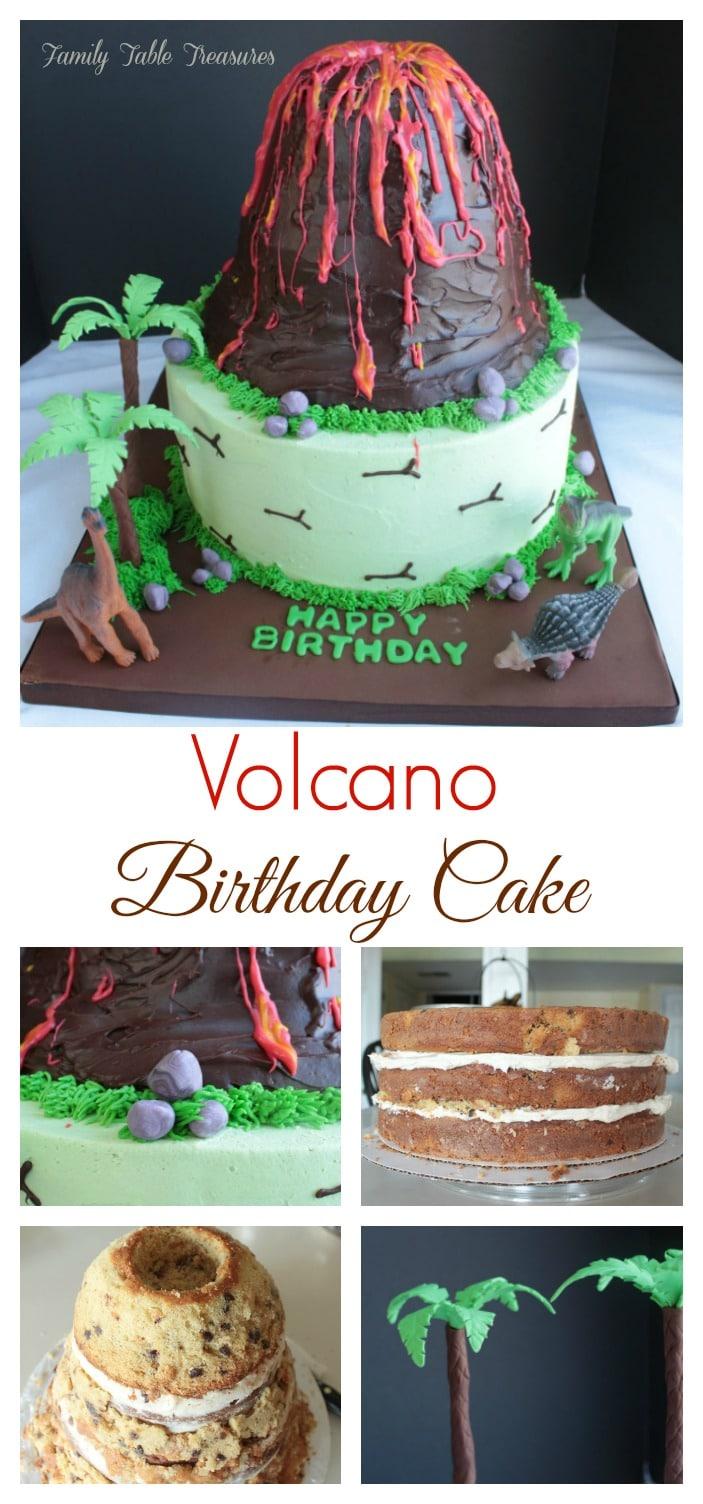 Fabulous Volcano Cake Family Table Treasures Personalised Birthday Cards Veneteletsinfo