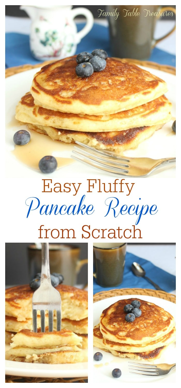 Easy Fluffy Pancake Recipe From Scratch Family Table Treasures