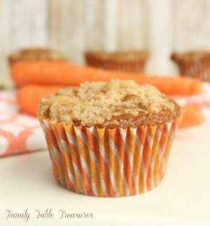 Cream Cheese Stuffed Carrot Cake Muffins