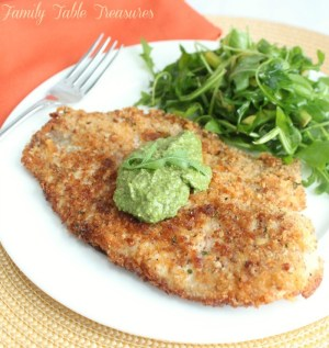Pecan Crusted Tilapia with Swiss Chard Pesto