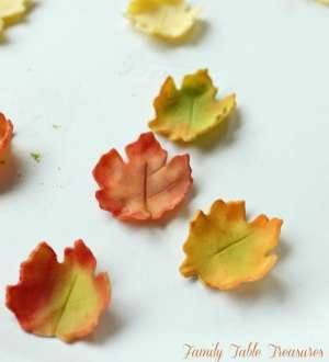 How to make Autumn Gumpaste Leaves