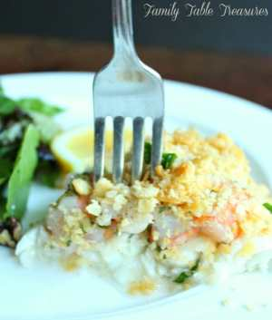 New England Baked Haddock with Ritz Cracker & Shrimp Stuffing