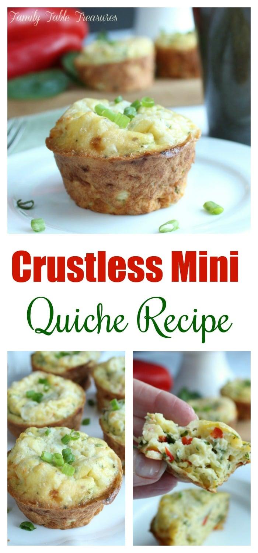 Crustless Mini Quiche Recipe