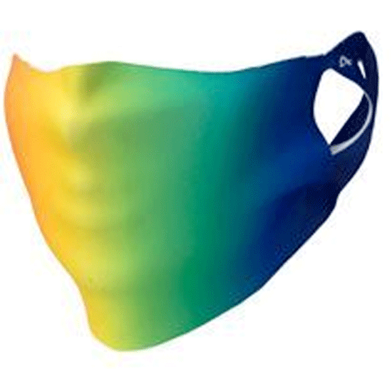 Rainbow Print Face Covering