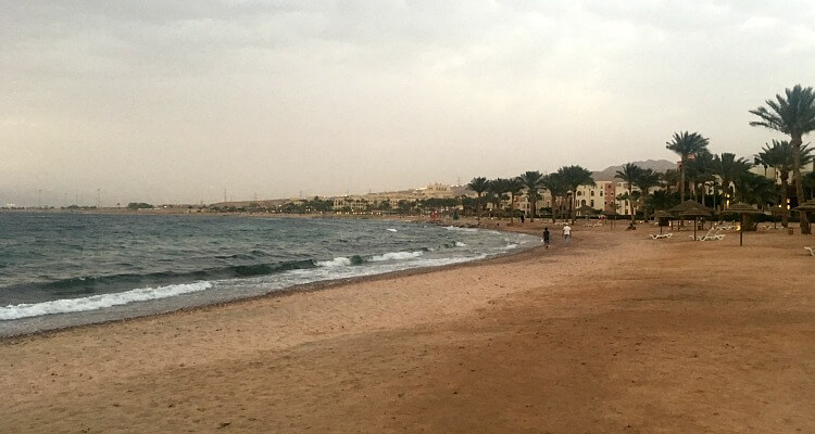 Tala Bay Beach on the Red Sea Jordan
