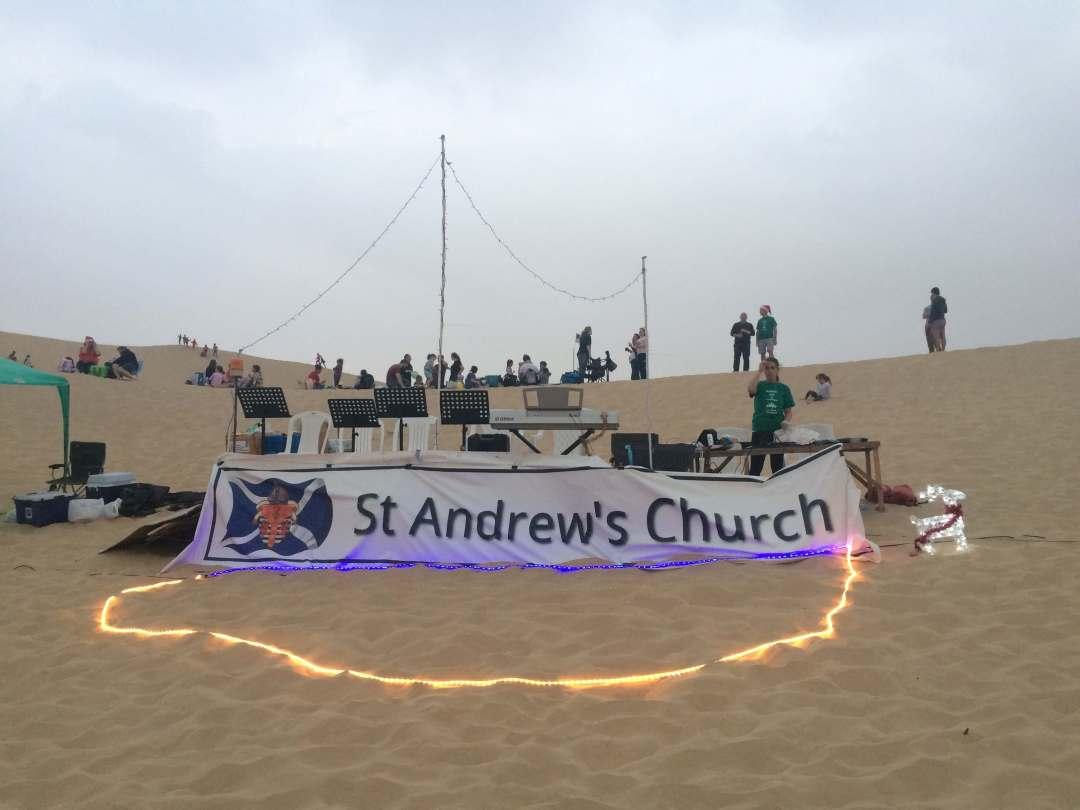 Carols in the desert, an annual event held near Abu Dhabi every December