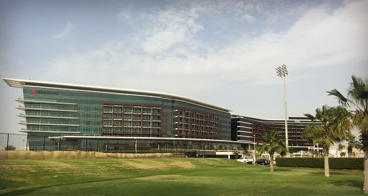 exterior view of Marriott Al Forsan in Khalifa City Abu Dhabi