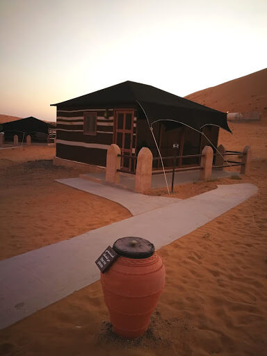 Bedouin style tents 1000 Nights Camp in Wahiba Sand Oman