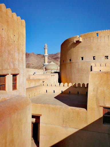 Nizwa Fort, in histroica Nizwa, Oman