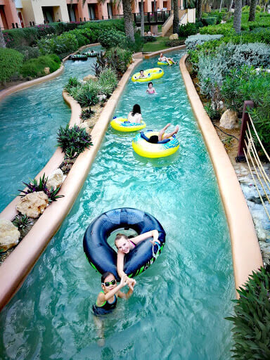 The Lazy River at Barr Al-Jissah Resort