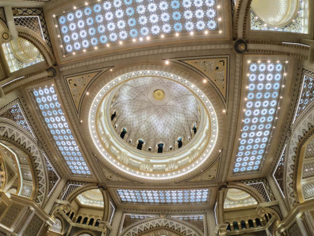 The doomed ceiling of the Great Hall Qasr Al Watan