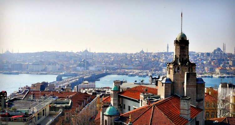 View from Galata over the water
