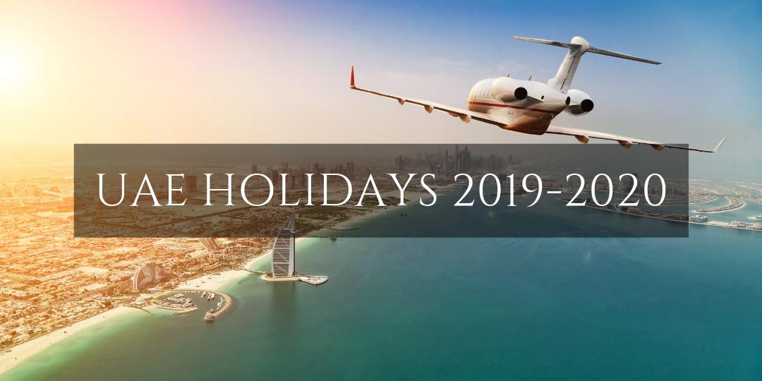 UAE Holidays 2019-20 - Plane over Dubai
