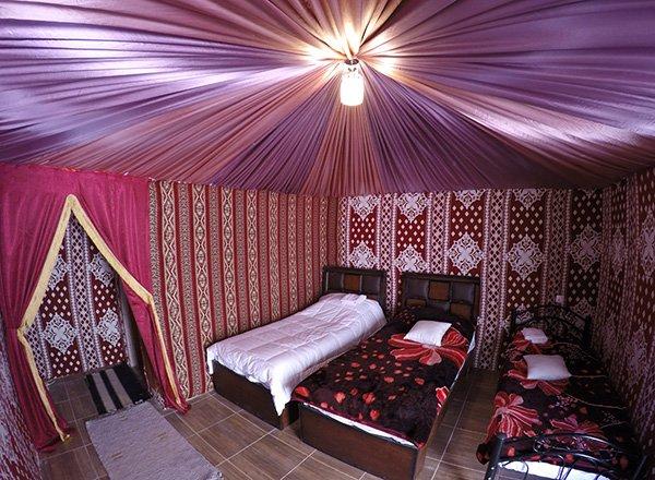 Hasan Zawaideh Camp inside teh bedroom tent