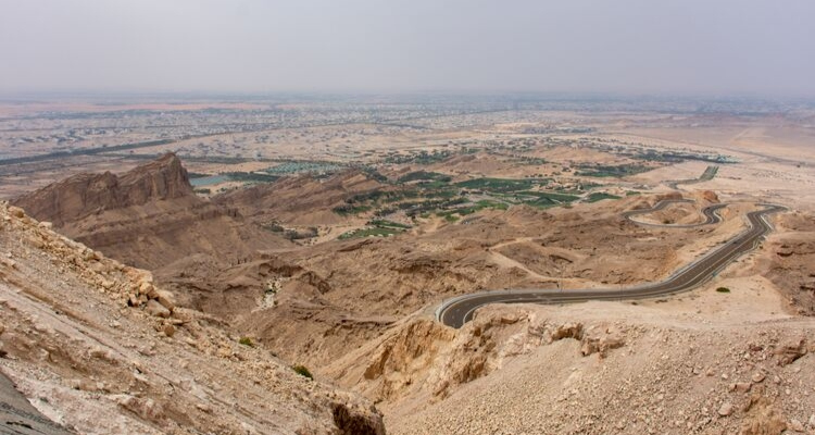 Al Ain viewed from above Jebel Hafeet
