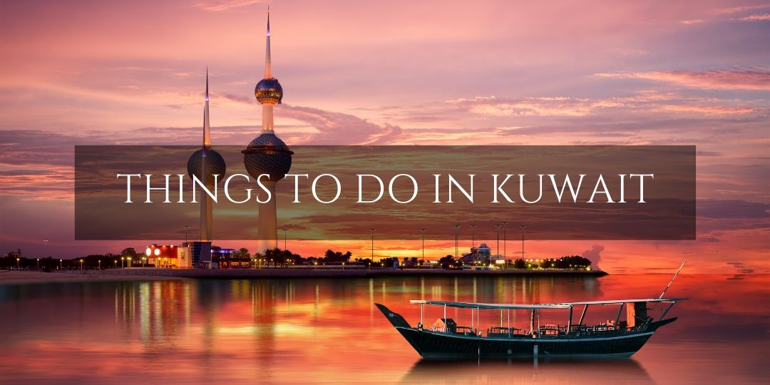 Kuwait things to do - dhow view of Kuwait city skyline