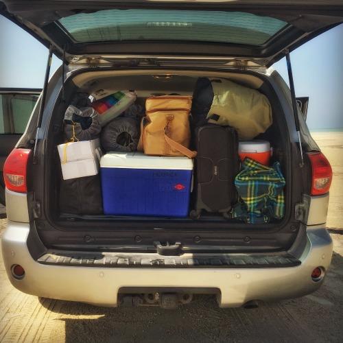 Desert camping packing supplies
