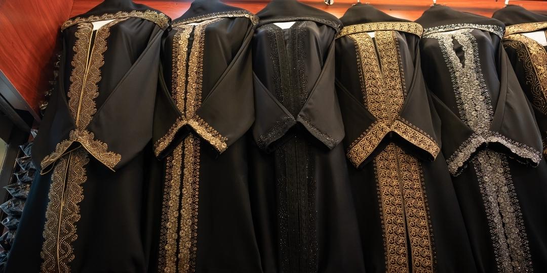 Abaya in a shop