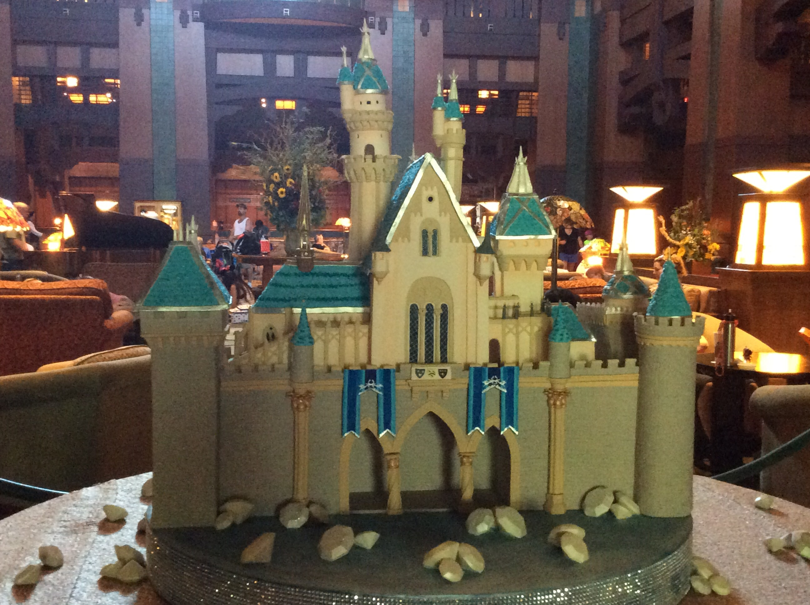 grand californian photo essay cake in shape of sleeping beauty s disneyland castle in lobby of the grand californian hotel at disneyland