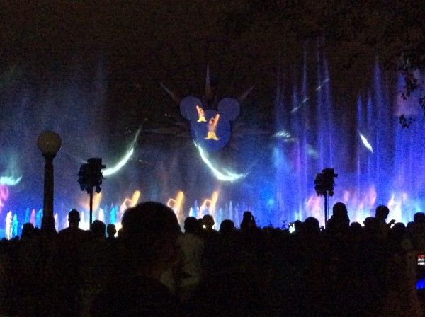 """Fantasia in nighttime show at Disneyland"""