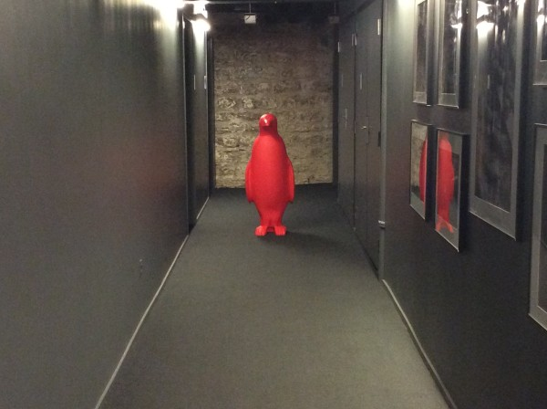 """21c Hotel red penguins"""