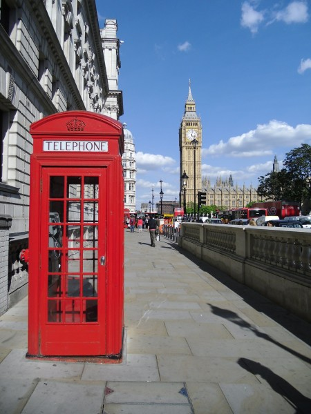"""Big Ben and British phone booth"""